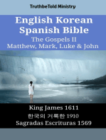 English Korean Spanish Bible - The Gospels II - Matthew, Mark, Luke & John