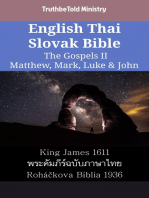 English Thai Slovak Bible - The Gospels II - Matthew, Mark, Luke & John