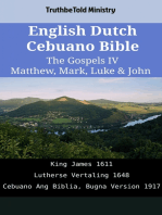 English Dutch Cebuano Bible - The Gospels IV - Matthew, Mark, Luke & John