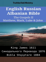 English Russian Albanian Bible - The Gospels II - Matthew, Mark, Luke & John
