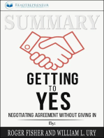 Summary of Getting to Yes