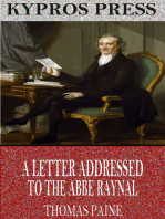 A Letter Addressed to the Abbe Raynal