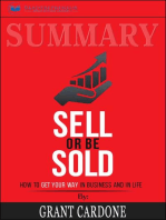 Summary of Sell or Be Sold