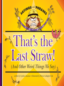 That's the Last Straw!: (And Other Weird Things We Say)