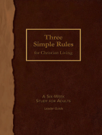 Three Simple Rules for Christian Living Leader Guide