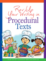 Rev Up Your Writing in Procedural Texts
