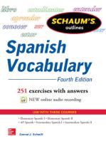 Schaum's Outline of Spanish Vocabulary, 4th Edition