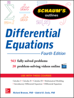 Schaum's Outline of Differential Equations, 4th Edition