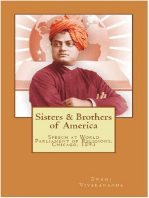 Sisters & Brothers of America: Swami Vivekananda's Speech  at World's Parliament of Religions, Chicago, 1893