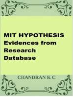 MIT HYPOTHESIS- Evidences From Research Database