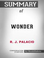 Summary of Wonder by R. J. Palacio | Conversation Starters