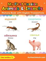 My First Russian Animals & Insects Picture Book with English Translations