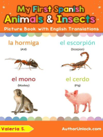 My First Spanish Animals & Insects Picture Book with English Translations