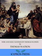 Wise and Holy Sayings of Thomas Watson
