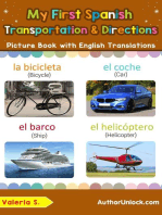 My First Spanish Transportation & Directions Picture Book with English Translations
