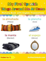 My First Spanish Things Around Me at Home Picture Book with English Translations