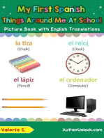My First Spanish Things Around Me at School Picture Book with English Translations