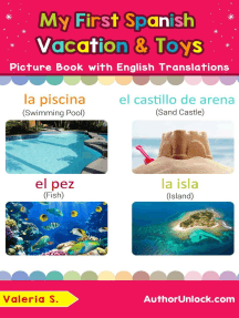My First Spanish Vacation & Toys Picture Book with English Translations: Teach & Learn Basic Spanish words for Children, #24