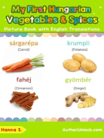 My First Hungarian Vegetables & Spices Picture Book with English Translations