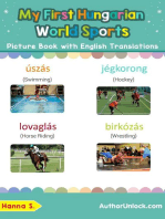 My First Hungarian World Sports Picture Book with English Translations