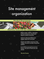Site management organization Standard Requirements