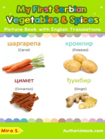 My First Serbian Vegetables & Spices Picture Book with English Translations