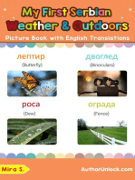 My First Serbian Weather & Outdoors Picture Book with English Translations