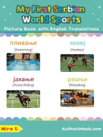 My First Serbian World Sports Picture Book with English Translations