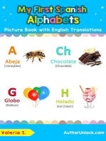 My First Spanish Alphabets Picture Book with English Translations