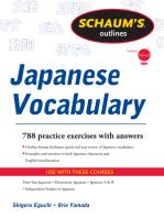 Schaum's Outline of Japanese Vocabulary