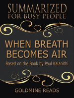 When Breath Becomes Air - Summarized for Busy People