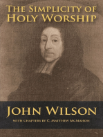 The Simplicity of Holy Worship