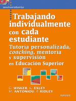 Trabajando individualmente con cada estudiante: Tutoría personalizada, coaching, mentoría y supervisión en Educación Superior