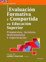 Evaluación formativa y compartida en Educación Superior: Propuestas, técnicas, instrumentos y experiencias