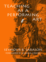 Teaching as a Performing Art