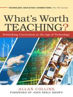 What's Worth Teaching?