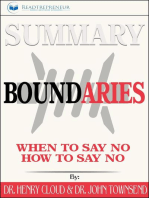 Summary of Boundaries