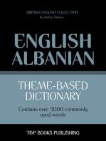 Theme-based dictionary British English-Albanian