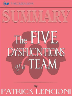 Summary of The Five Dysfunctions of a Team, Enhanced Edition
