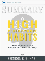 Summary of High Performance Habits