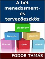 A hét menedzsment- és tervezőeszköz