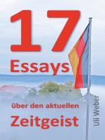 17 Essays über den aktuellen Zeitgeist
