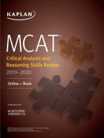 MCAT Critical Analysis and Reasoning Skills Review 2019-2020
