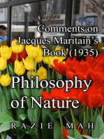 Comments on Jacques Maritain's Book (1935) Philosophy of Nature