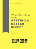 What Can I Learn About Getting a Better Sleep?