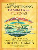 Panitikang Pambata sa Filipinas: Mga Gunita, Talâ, Puna't Pansin sa Kasaysayan