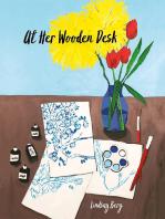 At Her Wooden Desk