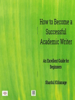 How to Become A Successful Academic Writer