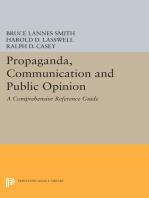 Propaganda, Communication and Public Opinion