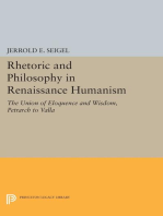 Rhetoric and Philosophy in Renaissance Humanism